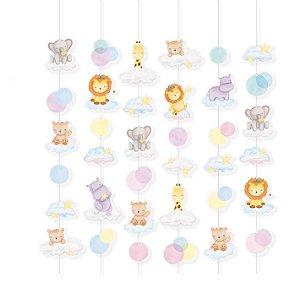 Cortina Decorativa Festa Bichinhos Baby - 6 unidades - Cromus - Rizzo Festas