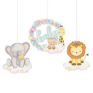 Móbiles Decorativos Festa Bichinhos Baby - 4 unidades - Cromus - Rizzo Festas