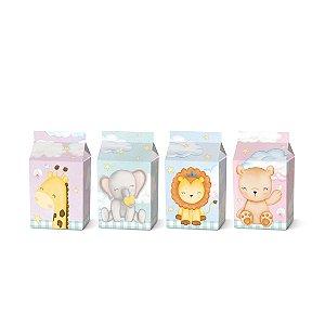Caixa Leiteira Festa Bichinhos Baby - 8 unidades - Cromus - Rizzo Festas