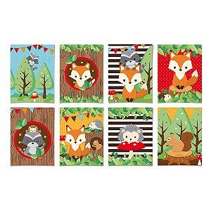 Kit Cartaz Decorativo Festa Bosque - 8 unidades - Cromus - Rizzo Festas