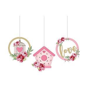 Móbiles Decorativos Festa Jardim Encantado - 3 unidades - Cromus - Rizzo Festas