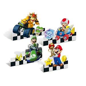 Decoração de Mesa Festa Mario Kart - 4 unidades - Cromus - Rizzo Festas