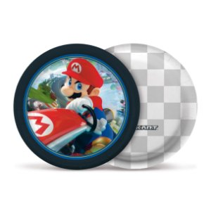 Prato Festa Mario Kart 18Cm - 8 unidades - Cromus - Rizzo Festas