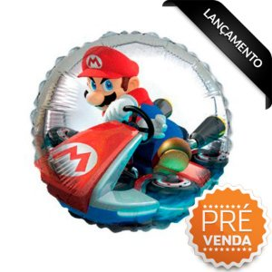 Balão Metalizado Festa Mario Kart 18'' - 1 unidade - Cromus - Rizzo Festas