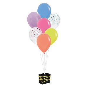 Kit Balões Festa Neon - Cromus - Rizzo Festas