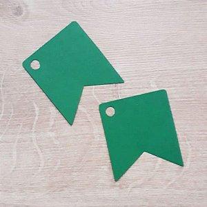 Tag Bandeirinha Festa Junina Verde - 4,5 X 5,5 cm - 10 Unidades - Rizzo Embalagens