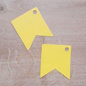 Tag Bandeirinha Festa Junina Amarelo - 4,5 X 5,5 cm - 10 Unidades - Rizzo Embalagens