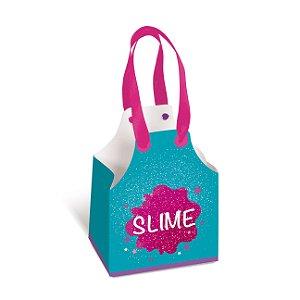 Caixa Avental Festa Slime - 8 unidades - Cromus - Rizzo Festas