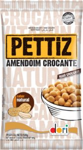Amendoim Crocante Sabor Natural 500g Dori Rizzo Festas