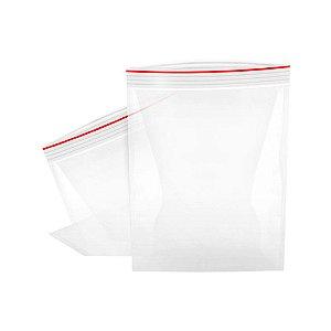 Saco Zip Transparente 8x12cm - 100 Unidades - Rizzo Embalagens