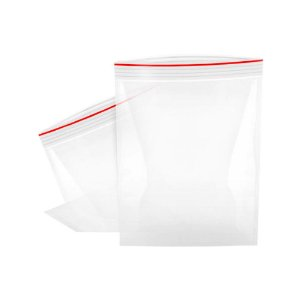 Saco Zip Transparente 14x20cm - 100 Unidades - Rizzo Embalagens