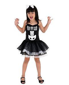 Fantasia Halloween Bruxa Esqueleto M - 1 Unidade - Sula - Rizzo Festas