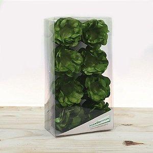 Forminha para Doces Finos - R82 Crepom Verde Musgo - 40 unidades - MaxiFormas - Rizzo Embalagens