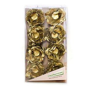 Forminha para Doces Finos - R82 Seda Dourado - 40 unidades - MaxiFormas - Rizzo Embalagens