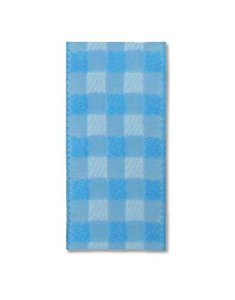 Fita Xadrez Azul Claro 22mm - 10 metros - Progresso - Rizzo Embalagens