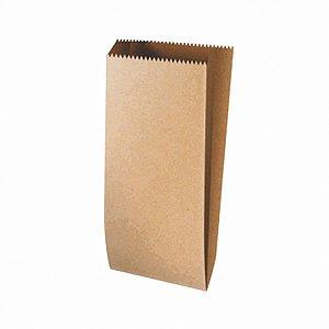 Saquinho de Papel Liso Pardo - 10x21cm - 25 unidades - Rizzo Festas