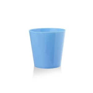 Copinho Acrílico para Doces 25ml Azul Bebê Redondo - 10 unidades - Plural - Rizzo Festas
