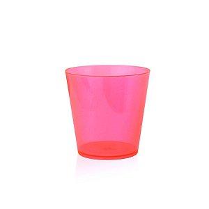 Copinho Acrílico para Doces 25ml Rosa Redondo - 10 unidades - Plural - Rizzo Festas