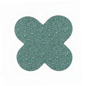 Forminha para doces 4 Pétalas Glitter Verde - 50 unidades -  NC Toys Rizzo Festas