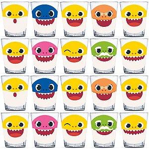 Copinho para Doces 40ml Festa Baby Shark - 20 unidades - Rizzo Festas