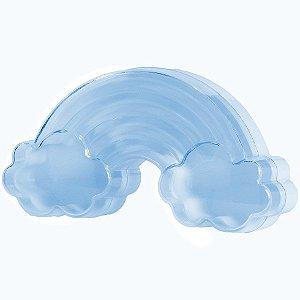 Caixinha Acrílica para Doces Arco-Íris Azul - 10cm x 5,5cm - 10 unidades - Artlille - Rizzo Festas