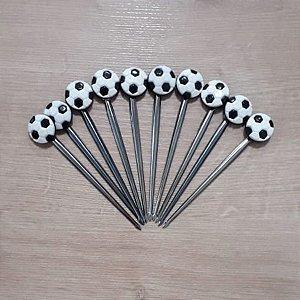 Palito p Petiscos Bola de Futebol - 10 unidades - Rizzo Embalagens