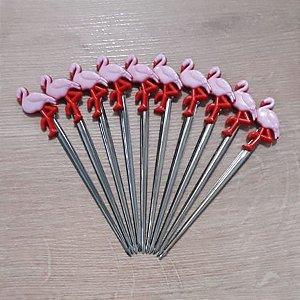 Palito p Petiscos Flamingo - 10 unidades - Rizzo Embalagens