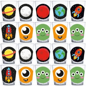 Copinho para Doces 40ml Festa Astronauta - 20 unidades - Rizzo Festas