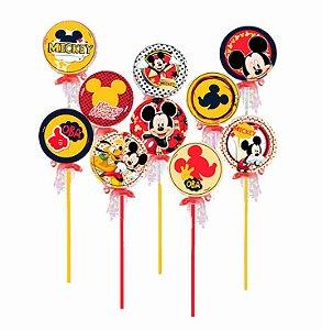 Pirulito Lembrancinha Festa Mickey - 10 unidades - Rizzo Festas
