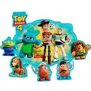 Kit Decorativo com Apliques Festa Toy Story 4 - 4 unidades - Regina - Rizzo Festas