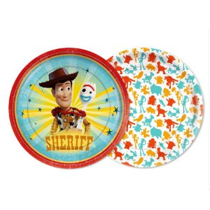 Prato Festa Toy Story 4 - 18Cm - 8 unidades - Regina - Rizzo Festas
