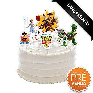 Topper para Bolo Festa Toy Story 4 - 5 peças - Regina - Rizzo Festas