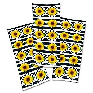 Adesivo Redondo para Lembrancinha Festa Girassol - 30 unidades - Festcolor - Rizzo Festas