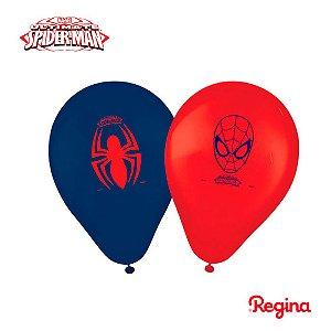 """Balão Festa Homem Aranha 9"""" - 25 unidades - Regina - Rizzo Festas"""