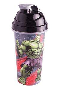 Shakeira de Plástico Cinza Avengers Hulk - 580ml - 01 unidade - Plasútil - Rizzo Festas
