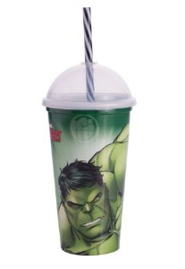 Copo Shake Plástico Hulk - 500ml - 01 unidade - Plasútil - Rizzo Festas