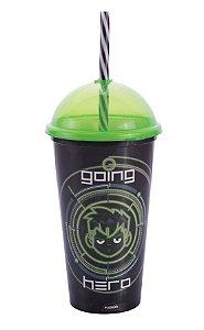 Copo Shake Plástico Ben 10 - 500ml - 01 unidade - Plasútil - Rizzo Festas