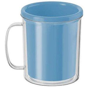 Caneca para Foto - Azul Claro 10cm x 8cm - Rizzo Embalagens