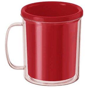 Caneca para Foto - Vermelho 10cm x 8cm - Rizzo Embalagens