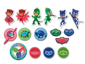 Mini Personagens Decorativos Festa PJ Masks - 39 unidades - Regina - Rizzo Festas