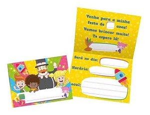Convite Festa Mundo Bita - 10cm x 15cm - 08 unidades - Regina - Rizzo Festas