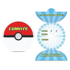Convite Festa Pokemon - 8 unidades - Junco - Rizzo Festas