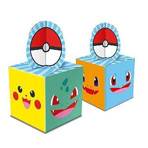Caixa para Lembrancinhas Festa Pokemon - 8 unidades - Junco - Rizzo Festas