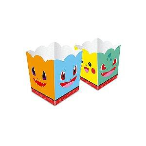Cachepot Festa Pokemon - 7,5cm x 7,5cm x 9,4cm - 8 unidades - Junco - Rizzo Festas