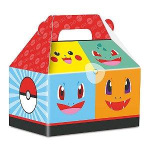 Caixa Maleta Festa Pokemon - 12cm x 8cm x 11,8cm - 8 unidades - Junco - Rizzo Festas