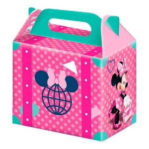 Caixa Maleta Festa Minnie Rosa - 8 unidades - Junco - Rizzo Festas