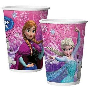 Copo de Papel Festa Frozen 180ml - 08 unidades - Regina - Rizzo Festas