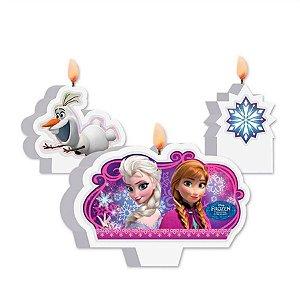 Kit Vela Festa Frozen - 03 unidades - Regina - Rizzo Festas