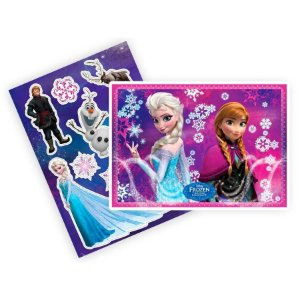 Kit Decorativo com Apliques Festa Frozen - 08 unidades - Regina - Rizzo Festas