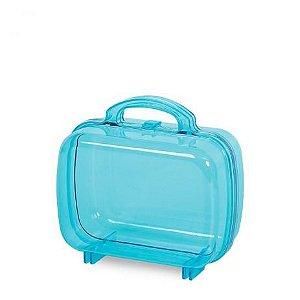 Maleta de Acrílico Lembrancinha Azul Claro - 1 Unidade - MK Plásticos - Rizzo Festas